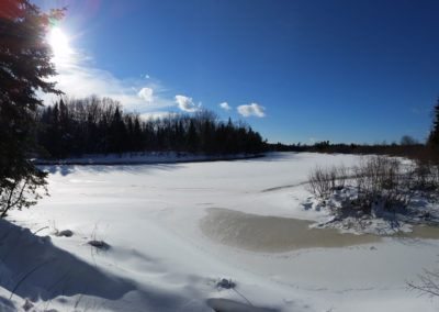 Frozen Winter on the Machias River
