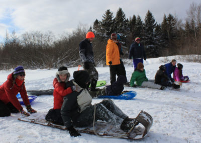 Middle River Park Sledding